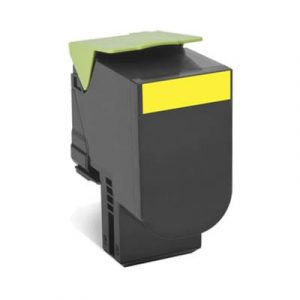 Genuine Lexmark 80C8SY0 (808S) Yellow High Yield toner cartridge - 2,000 pages