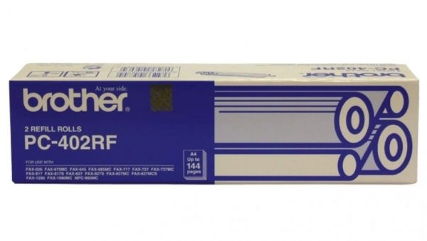 Genuine Brother PC-402RF fax thermal roll 2pk - 135m each