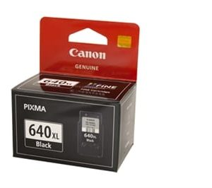 Genuine Canon PG-640XL Black High Yield ink cartridge - 400 pages
