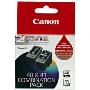 Canon PG-40 FINE Black ink cartridge & CL-41 FINE Colour ink cartridge 2pk - see singles for yield