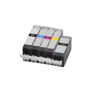 Compatible Canon PGI-525 & CLI-526(B,C,M,Y) Value Pack 5pk - see singles for yield