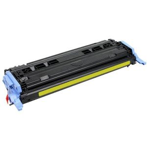 Compatible HP 124A (Q6002A) Yellow toner cartridge - 2,000 pages