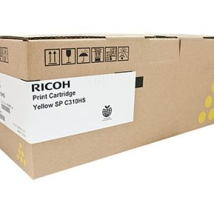 Genuine Ricoh/Lanier 406486 Yellow toner cartridge - 6,000 pages