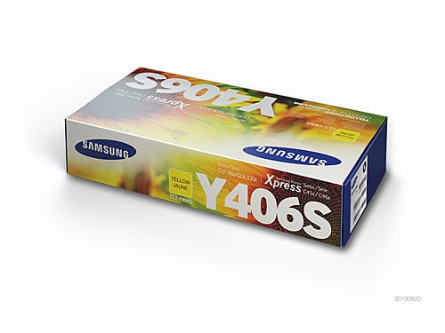 Genuine Samsung CLT-Y406S Yellow toner cartridge - 1,000 pages