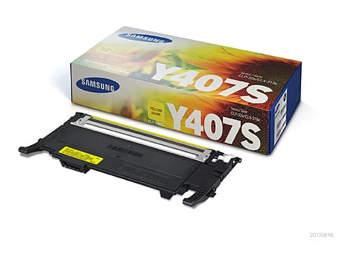 Genuine Samsung CLT-Y407S Yellow toner cartridge - 1,000 pages