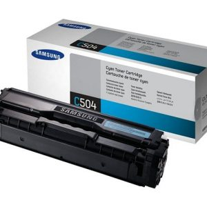 Genuine Samsung CLT-C504S Cyan toner cartridge - 1,800 pages