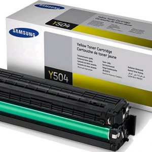 Genuine Samsung CLT-Y504S Yellow toner cartridge - 1,800 pages