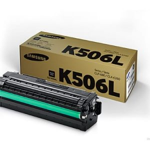 Genuine Samsung CLT-K506L Black High Yield toner cartridge - 6,000 pages