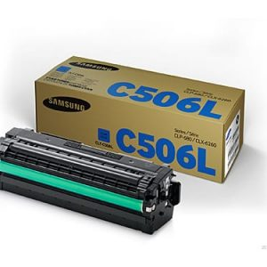 Genuine Samsung CLT-C506L Cyan High Yield toner cartridge - 3,500 pages