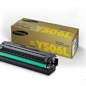 Genuine Samsung CLT-Y506L Yellow High Yield toner cartridge - 3,500 pages