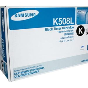 Genuine Samsung CLT-K508L Black High Yield toner cartridge - 5,000 pages