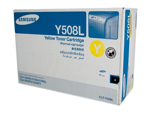 Genuine Samsung CLT-Y508L Yellow High Yield toner cartridge - 4,000 pages