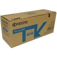 Genuine Kyocera TK-5274C Cyan toner cartridge - 6,000 pages