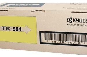 Genuine Kyocera TK-584Y Yellow toner cartridge - 2,800 pages