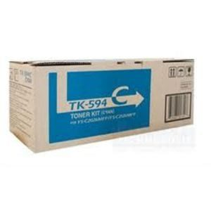 Genuine Kyocera TK-594C Cyan toner cartridge - 5,000 pages