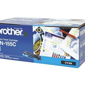 Genuine Brother TN-155 Cyan High Yield toner cartridge - 4,000 pages
