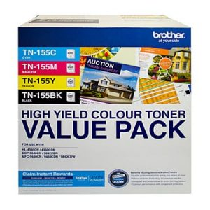 Genuint Brother TN-155CL Value Pack 4pk (B,C,M,Y) - see singles for yield
