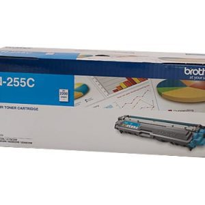 Genuine Brother TN-255 Cyan toner cartridge - 2,200 pages