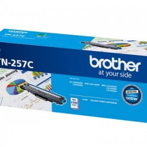 Genuine Brother TN-257 Cyan toner cartridge - 2,300 pages