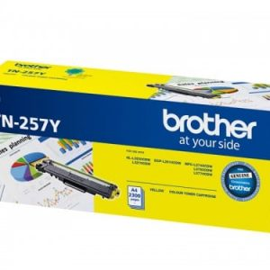 Genuine Brother TN-257 Yellow toner cartridge - 2,300 pages