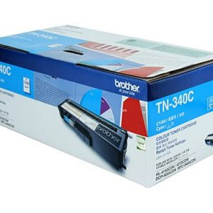 Genuine Brother TN-340 Cyan toner cartridge - 1,500 pages
