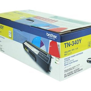 Genuine Brother TN-340 Yellow toner cartridge - 1,500 pages