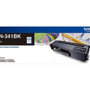 Genuine Brother TN-341 Black toner cartridge - 2,500 pages