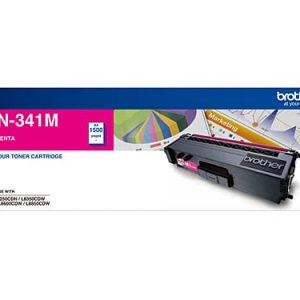 Genuine Brother TN-341 Magenta toner cartridge - 1,500 pages
