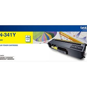 Genuine Brother TN-341 Yellow toner cartridge - 1,500 pages