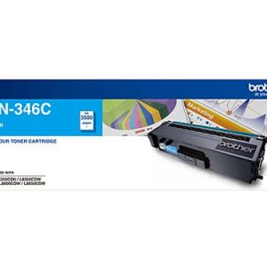 Genuine Brother TN-346 Cyan toner cartridge - 3,500 pages