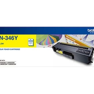 Genuine Brother TN-346 Yellow toner cartridge - 3,500 pages