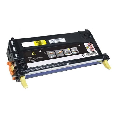 Compatible Lexmark X560H2YG (X560) Yellow toner cartridge - 7,000 pages